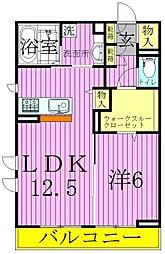 ベルナール西新井[1階]の間取り