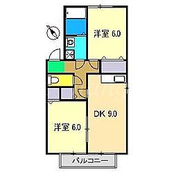 プレミール大篠[2階]の間取り