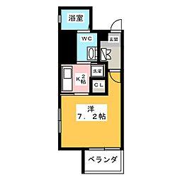 ベラジオ四条烏丸[7階]の間取り