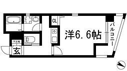 兵庫県川西市小花1丁目の賃貸マンションの間取り