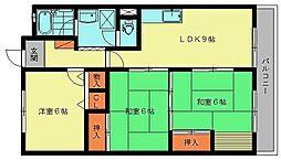 ユアーズマンション21[3階]の間取り