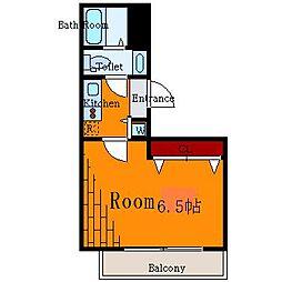 パークサイド亀戸[6階]の間取り