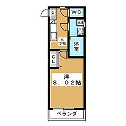 クレフラスト旭ヶ丘[2階]の間取り