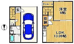 [タウンハウス] 福岡県久留米市東合川4丁目 の賃貸【/】の間取り