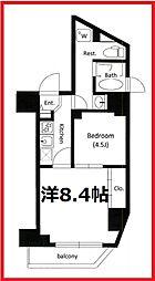 東京都台東区根岸4丁目の賃貸マンションの間取り