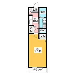 SAN栄寿[3階]の間取り