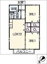 ハイツ菅沼A棟[2階]の間取り