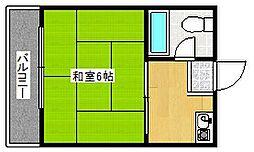 メゾン天下茶屋[4階]の間取り