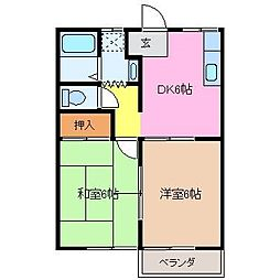 中川ファーストマンションII[2階]の間取り
