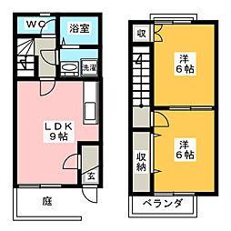 [テラスハウス] 岐阜県岐阜市日野南4丁目 の賃貸【/】の間取り