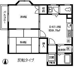 ローライズ駒沢[102号室]の間取り