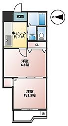 東京都足立区南花畑2丁目の賃貸マンションの間取り