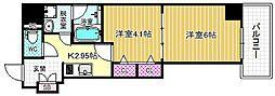 レジュールアッシュ梅田AXIA[13階]の間取り