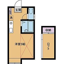 パンシオン愛甲石田No.1[2階]の間取り