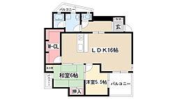 カーサ小井堀[105号室]の間取り
