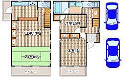 [一戸建] 兵庫県神戸市須磨区須磨寺町2丁目 の賃貸【/】の間取り