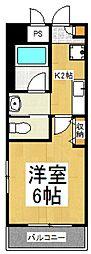 クレールYAMATO[3階]の間取り