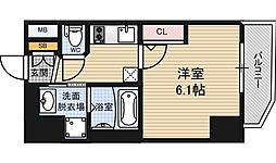 エステムコート梅田北2ゼニス[7階]の間取り