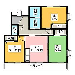 SUN GREEN ITO[4階]の間取り