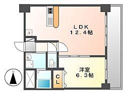 サムティ山王レジデンス[8階]の間取り