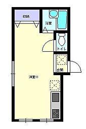 アーバンハイツ船木II[201号室]の間取り