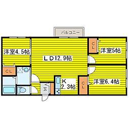 北海道札幌市東区北八条東17丁目の賃貸マンションの間取り
