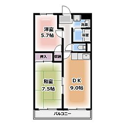 イル・プリンチパーレ・トミタビル[3階]の間取り