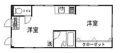 ESTATE SHIBUYA HONMACHI 1階ワンルームの間取り
