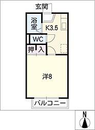 クリオコート[1階]の間取り