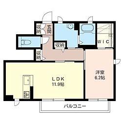 パ−ク・ヒルIII[1階]の間取り