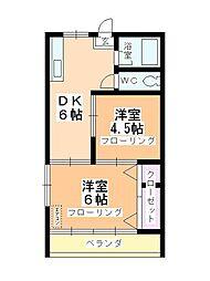 第2石田ビル[301号室]の間取り