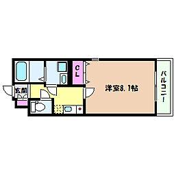 JR東海道・山陽本線 六甲道駅 徒歩3分の賃貸マンション 4階1Kの間取り