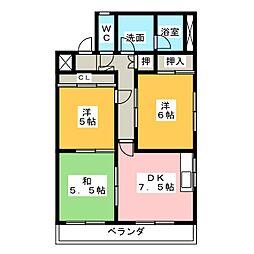 メゾン ルピナス[8階]の間取り