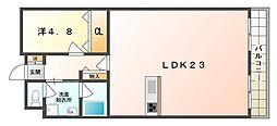 守口スカイハイツ[11階]の間取り