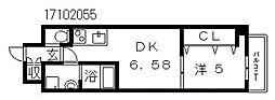 クローバーグランツ阿倍野[5階]の間取り