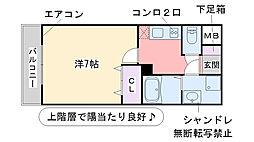 サムティ姪浜[505号室]の間取り