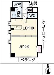 プロビデンス葵タワー[3階]の間取り