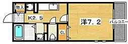 シエルブルー[2階]の間取り