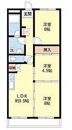セリマンション[3階]の間取り