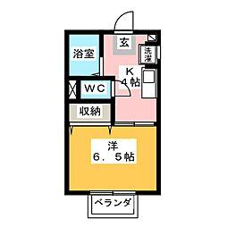エクセルB棟[2階]の間取り