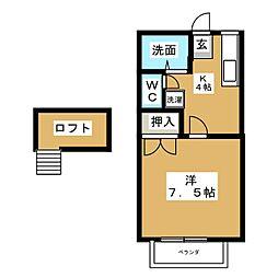 ロイヤルメゾンC[2階]の間取り