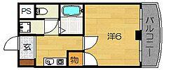 大阪府茨木市南春日丘2丁目の賃貸マンションの間取り