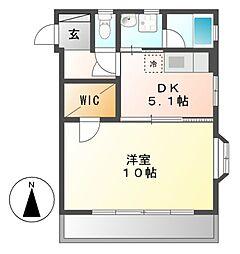 ミラシオン古渡[2階]の間取り