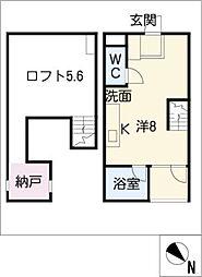 Azzuri池下[3階]の間取り
