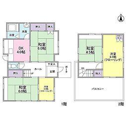 [一戸建] 神奈川県横浜市戸塚区小雀町 の賃貸【/】の間取り