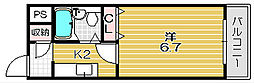 林泉第1ビル[5階]の間取り