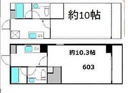 フォーシム麻布十番[802号室]の間取り