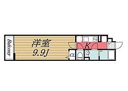 JR総武線 西千葉駅 徒歩9分の賃貸マンション 1階1Kの間取り