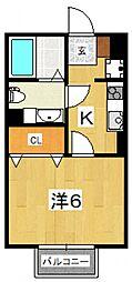 ラ・オート・リズィール[203号室号室]の間取り