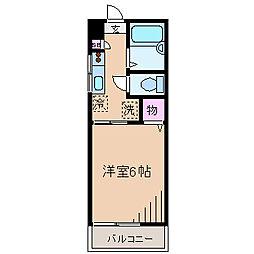 神奈川県横浜市港北区綱島東2丁目の賃貸アパートの間取り